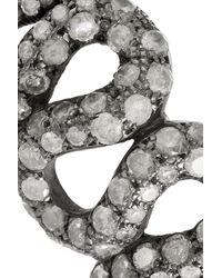 Loree Rodkin - Metallic 18karat Rhodium White Gold Diamond Snake Ring - Lyst