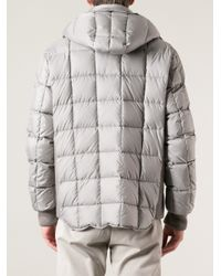 Moncler - Gray Quilted Jacket for Men - Lyst