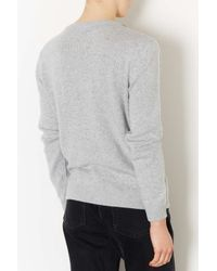 TOPSHOP - Gray Tall Crystal Stud Jumper - Lyst
