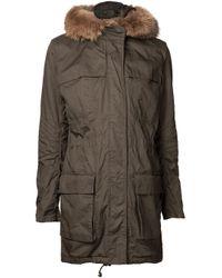 Vince | Green Shearling Fur-Lined Suede Zip Jacket | Lyst