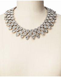 Ann Taylor - Metallic Crystal Cascade Statement Necklace - Lyst