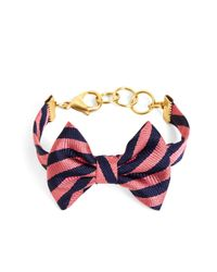 Brooks Brothers | Blue Kiel James Patrick Navy And Pink Bb#5 Stripe Bow Tie Bracelet | Lyst