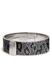 COACH | Multicolor Three Quarter Inch Hinged Ocelot Bangle | Lyst
