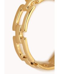 Forever 21 - Metallic Streetchic Chain Hoops - Lyst