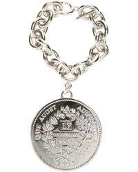 Givenchy | Metallic Logo Coin Bracelet | Lyst