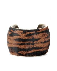 Isabel Marant | Black Calf Hair Cuff | Lyst