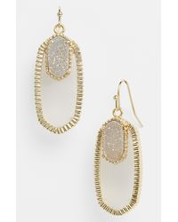 Kendra Scott | White Dayton Oval Stone Drusy Drop Earrings | Lyst