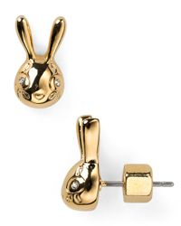 Marc By Marc Jacobs | Metallic Bunny Stud Earrings | Lyst