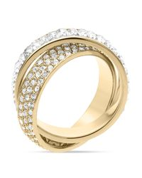 Michael Kors - Metallic Baguette Band Intertwined Ring - Lyst