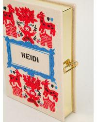Olympia Le-Tan - Natural 'Heidi' Book Clutch - Lyst
