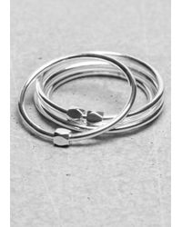 & Other Stories | Metallic Thin Brass Rings | Lyst