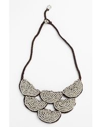 Panacea | Metallic Beaded Rope Bib Necklace | Lyst