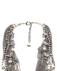 Tom Binns - Metallic Double Row Statement Necklace - Lyst