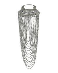 TOPSHOP - Metallic Mega Beaded Drape Necklace - Lyst