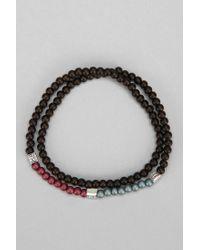 Urban Outfitters - Black Stussy Mini Bead Bracelet - Lyst