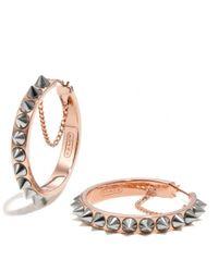 COACH - Metallic Spike Hoop Earrings - Lyst