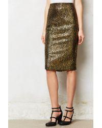 Anthropologie   Metallic Palatial Skirt   Lyst