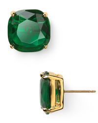 kate spade new york - Green Small Square Stud Earrings - Lyst