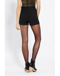 Urban Outfitters - Black Sparkle Fade Zipfront Highrise Short - Lyst