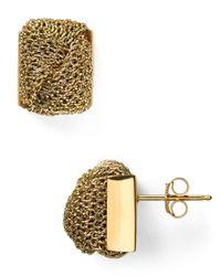 Adami & Martucci - Metallic Mesh Knot Stud Earrings - Lyst
