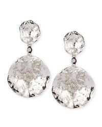 Coomi   Metallic Serenity Double-flower Diamond Earrings   Lyst