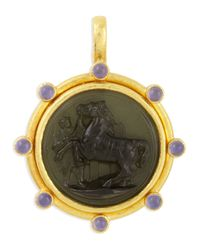 Elizabeth Locke - Metallic Ancient Horse 19K Gold Intaglio Pendant - Lyst