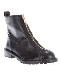 Marc By Marc Jacobs | Black Zip Ankle Boot | Lyst