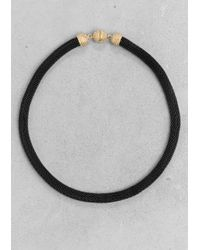 & Other Stories | Black Woven Metal Cord Necklace | Lyst