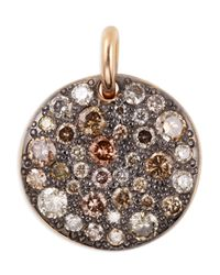 Pomellato | Multicolor Sabbia 18k Rose Gold & Brown Diamond Pendant | Lyst