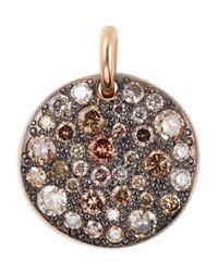 Pomellato - Multicolor Sabbia 18k Rose Gold & Brown Diamond Pendant - Lyst