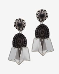 Ranjana Khan - Black Mirror Embellishment Clip On Earrings - Lyst