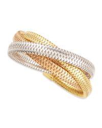 Roberto Coin - Metallic Primavera 9.5mm 18k Mixed Gold Bracelet - Lyst