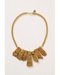 Anthropologie - Metallic Orefringe Bib Necklace - Lyst