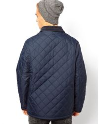 French Connection - Blue Quilted Jacket for Men - Lyst