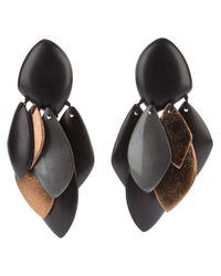 Monies | Brown Unique Earrings | Lyst
