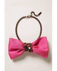 Rada' | Pink Figaro Bow Tie Choker | Lyst