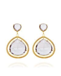 Coralia Leets - Blue Mystic Quartz Frame Earrings - Lyst