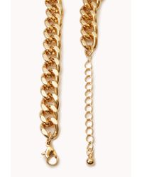 Forever 21 - Metallic Street Chic Oversized Chain Necklace - Lyst