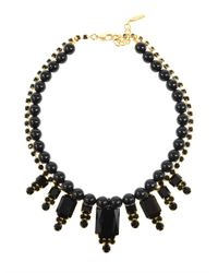 Joomi Lim - Black Beaded Baroque Crystal Necklace - Lyst