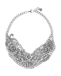 Lulu Frost - White Collage Silver Tone Crystal Necklace - Lyst