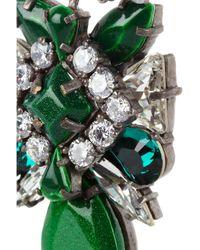 Shourouk - Metallic Crystal Earrings - Lyst