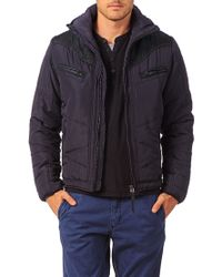 DIESEL - Blue Quilted Jacket 00s4ww Wenno Jacket for Men - Lyst