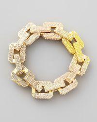Eddie Borgo | Metallic Supra Large Pavelink Chain Bracelet Yellowpink | Lyst