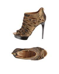 Elie Tahari - Metallic Platform Sandals - Lyst
