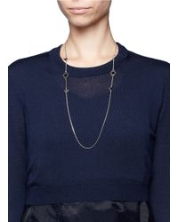 Marc By Marc Jacobs - Metallic Bird Motif Long Medley Necklace - Lyst