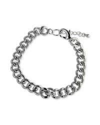 Marc Ecko | Metallic Silvertone Link Bracelet for Men | Lyst