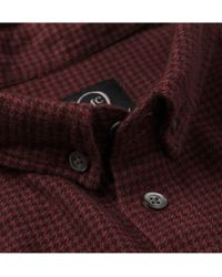 McQ | Red Dipdye Houndstooth Cotton Shirt for Men | Lyst