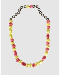 Miss Sixty - Pink Necklace - Lyst