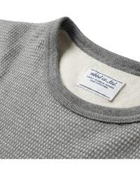 Neighborhood - Gray Longsleeved Waffle Cottonjersey Tshirt for Men - Lyst