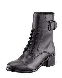 Pour La Victoire | Black Sibel Captoe Combat Boot | Lyst
